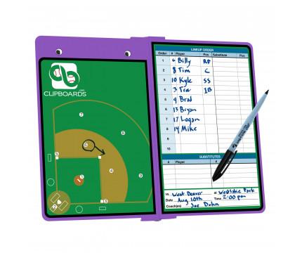 Lilac Baseball ISO Clipboard