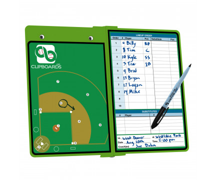 Lime Green Baseball ISO Clipboard