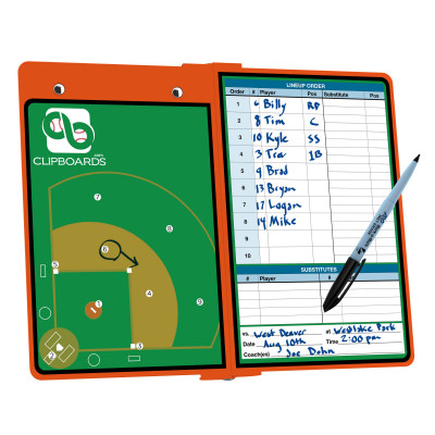 Orange Baseball ISO Clipboard