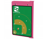Pink Baseball ISO Clipboard