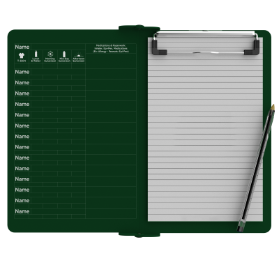 Camp ISO Clipboard | Green
