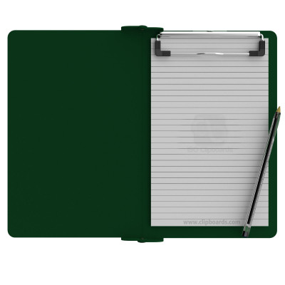 Folding Memo ISO Clipboard | Green - Slightly Damaged