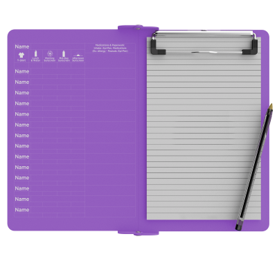 Camp ISO Clipboard | Lilac