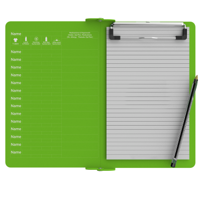 Camp ISO Clipboard | Lime Green