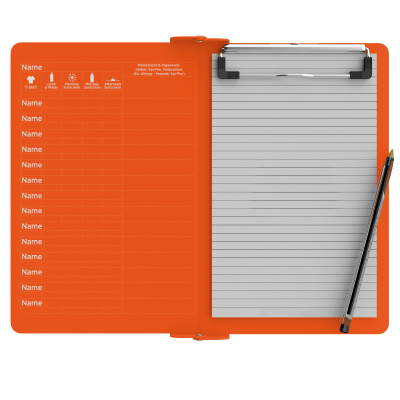 Camp ISO Clipboard | Orange