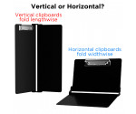 Black Vertical ISO Clipboard - Slightly Damaged