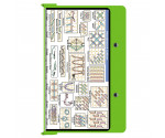 Aluminum Needlework Clipboard - Lime Green