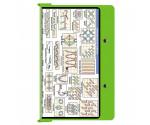 Aluminum Needlework Clipboard - Lime Green
