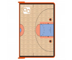 Orange Basketball ISO Clipboard