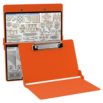 Aluminum Needlework Clipboard - Orange