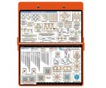 Steel Needlework Clipboard - Orange