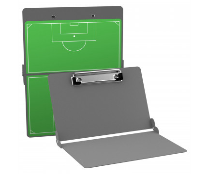 Silver Soccer ISO Clipboard