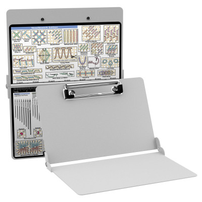 Aluminum Needlework Clipboard - White