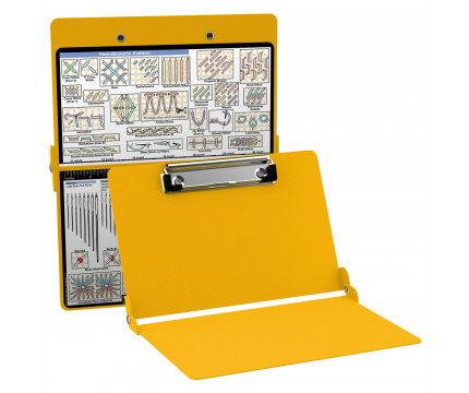 Aluminum Needlework Clipboard - Yellow