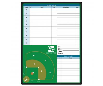 Flat Baseball Field Adhesive Reference Label