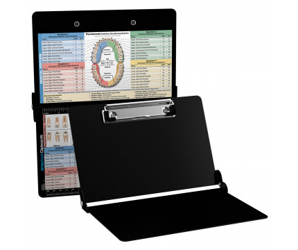 WhiteCoat Clipboard - BLACK - Dental Edition