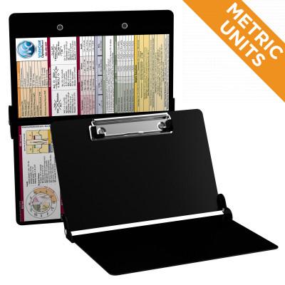 WhiteCoat Clipboard - BLACK - Metric Medical Edition