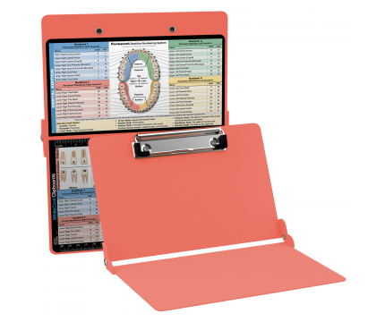 WhiteCoat Clipboard - Coral - Dental Edition