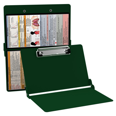 WhiteCoat Clipboard - GREEN - Respiratory Edition