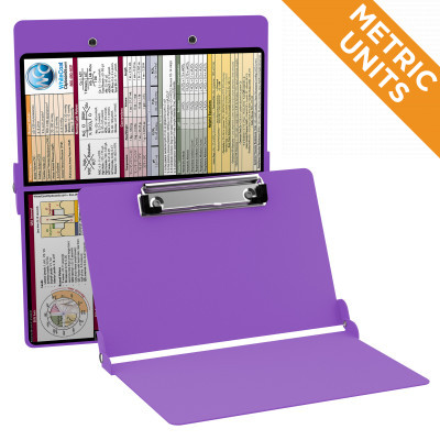 WhiteCoat Clipboard - LILAC - Metric Medical Edition