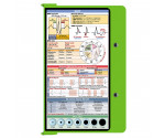 WhiteCoat Clipboard - LIME GREEN - EMT Edition