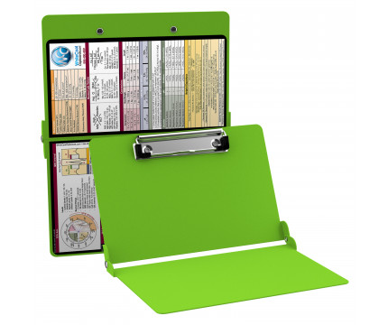 WhiteCoat Clipboard - LIME GREEN - Metric Medical Edition
