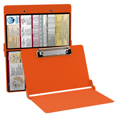 WhiteCoat Clipboard - ORANGE - Metric Medical Edition