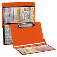 WhiteCoat Clipboard - ORANGE - Physical Therapy Edition
