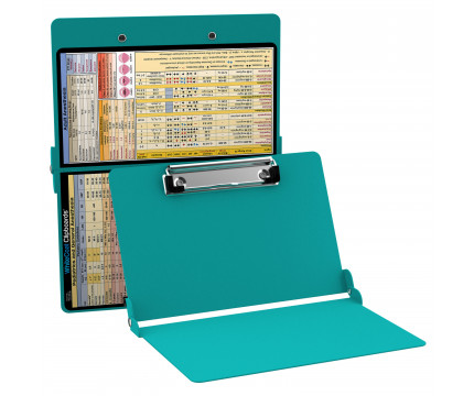WhiteCoat Clipboard - TEAL - Anesthesia Edition