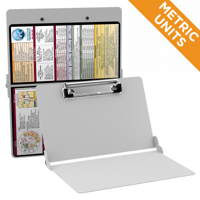 WhiteCoat Clipboard WHITE Metric Medical Edition