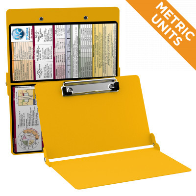 WhiteCoat Clipboard - YELLOW - Metric Medical Edition