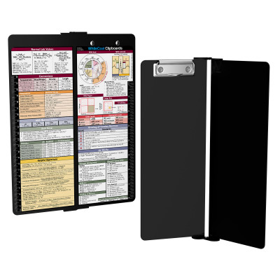 WhiteCoat Clipboard - Vertical - Black - Medical Edition - Slightly Damaged