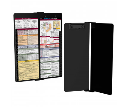 WhiteCoat Clipboard - Vertical - Blackout - Metric Medical Edition