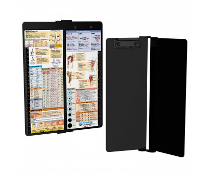 WhiteCoat Clipboard - Vertical - Blackout - Nursing Edition