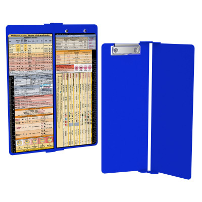 WhiteCoat Clipboard - Vertical - Blue - Anesthesia Edition