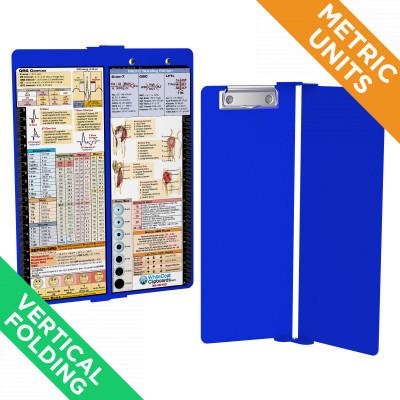 WhiteCoat Clipboard Vertical Blue Metric Nursing Edition