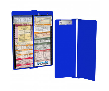 WhiteCoat Clipboard - Vertical - Blue - Pediatric Edition