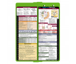 WhiteCoat Clipboard - Vertical - LIME GREEN - Metric Medical Edition
