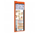 WhiteCoat Clipboard - Vertical - ORANGE - Metric Nursing Edition