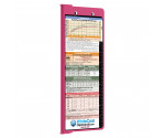 WhiteCoat Clipboard - Vertical - Pink - Pediatric Edition