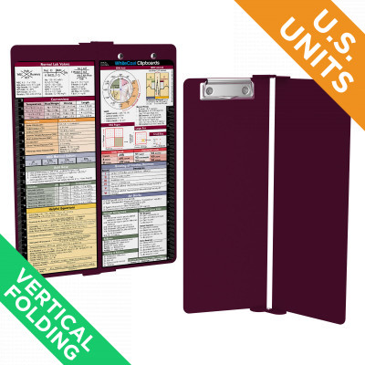 WhiteCoat Clipboard - Vertical - Wine - Medical Edition