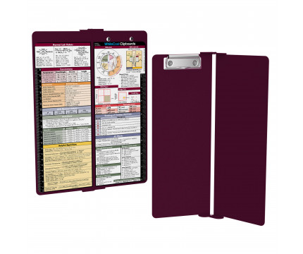 WhiteCoat Clipboard - Vertical - Wine - Metric Medical Edition