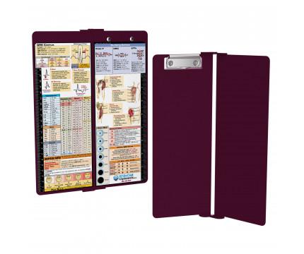 WhiteCoat Clipboard - Vertical - Wine - Nursing Edition