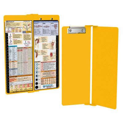 WhiteCoat Clipboard - Vertical - YELLOW - Metric Nursing Edition