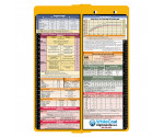 WhiteCoat Clipboard - Vertical - Yellow - Pediatric Edition