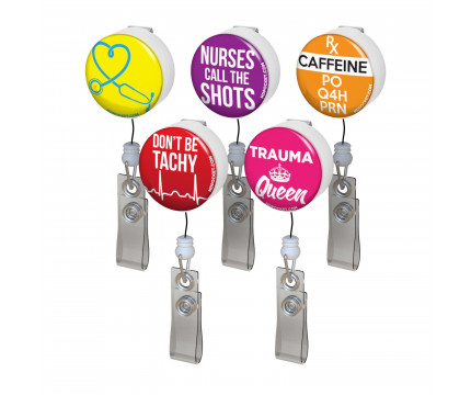 Nurse Badge Reel Funny Belt Clip Badge Reel Retractable Badge Reel Funny Badge Reel Funny Gift Badge Reel Pinch Clip Badge Reel