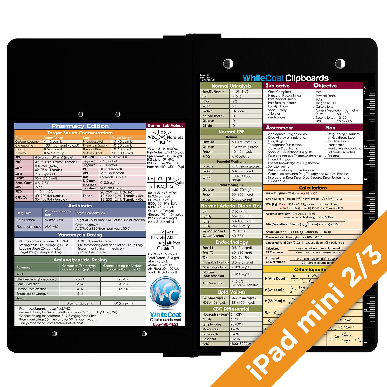 Ipad mini 2 3 whitecoat clipboard pharmacy edition
